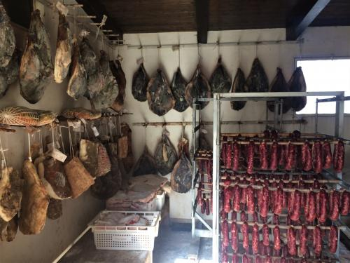 Ham and sausage produced locally in a company in Alghero