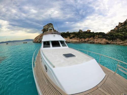 Details of a motor boat in the La Maddalena Archipelago