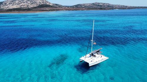 Catamaran off the coast of Asinara