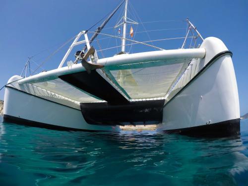 bow of the catamaran