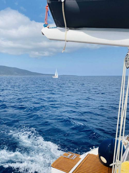 Sight from the catamaran on the sea