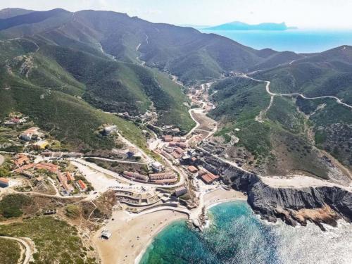 Drone photo of the Argentiera coast