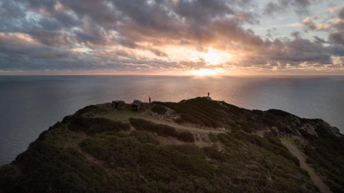 Sunset in the northwest coast of Sardinia
