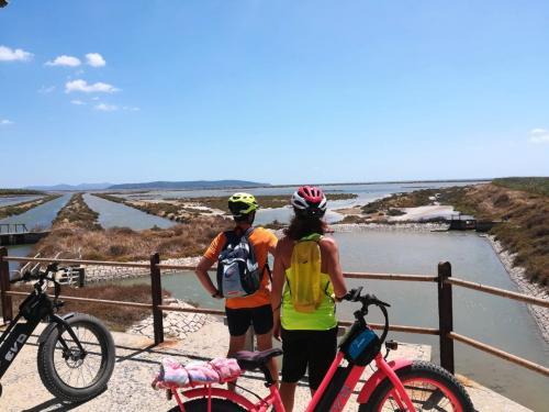 Punto panoramico durante escursione in e-bike alle Saline, a Sant'Antioco