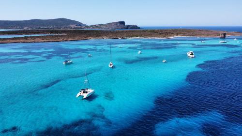 Foto panoramica Golfo Asinara e barche