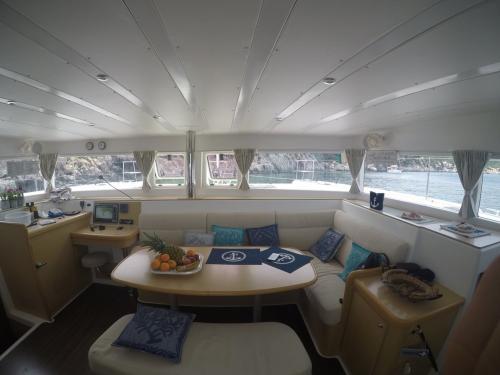 Interior of a catamaran