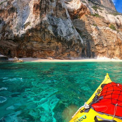 Kayaking on the coast of the Gulf of Orosei