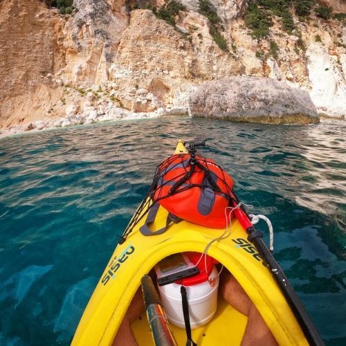 Kayak with equipment