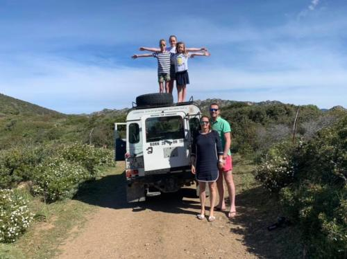 Family with children on Offroad tour
