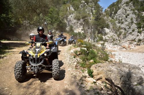 Hikers on quad bike tours