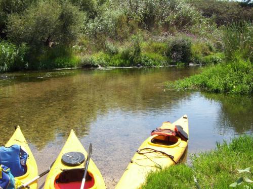 Kanus auf dem Coghinas River