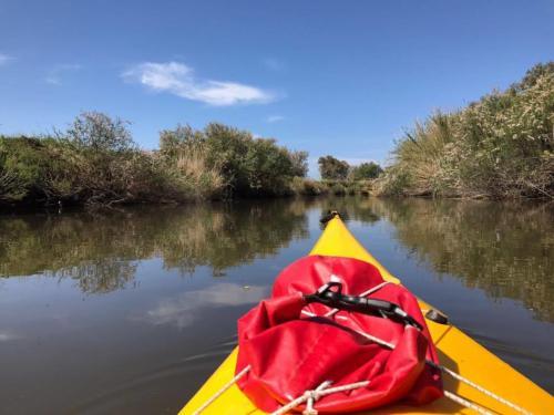 Kanu auf dem Coghinas River