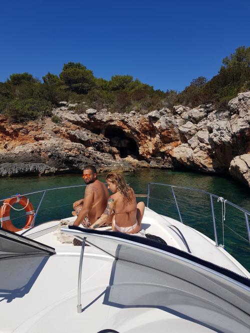Couple aboard a boat
