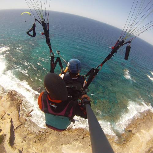 Paragliding Flug nach Littigheddu in der Gegend von Castelsardo