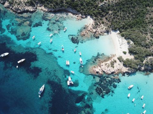 Boats in La Maddalena Archipel