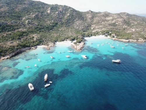 Sea and boats of the La Maddalena Archipelago