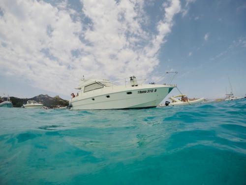 Boat sailing in La Maddalena Archipel