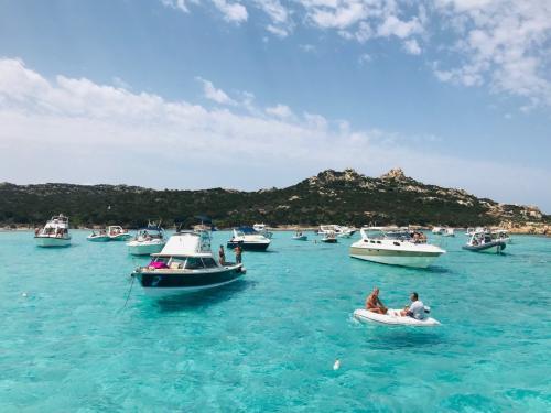 Boats in the sea of La Maddalena
