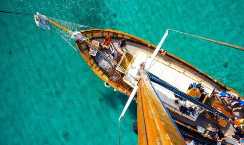 Vintage Segelschiff Mast