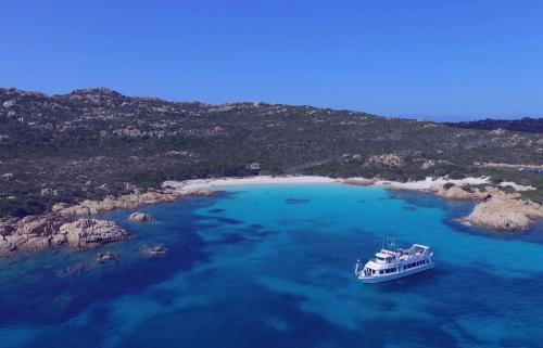 Boat in the sea of La Maddalena