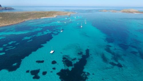 Panoramic view from Stintino towards Asinara