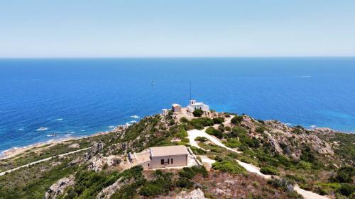 Landscape lighthouse Capo Comino