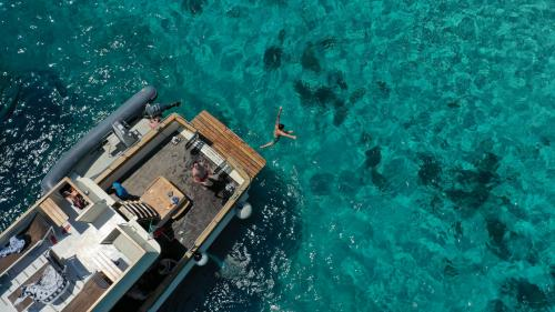 Dive from the motor yacht