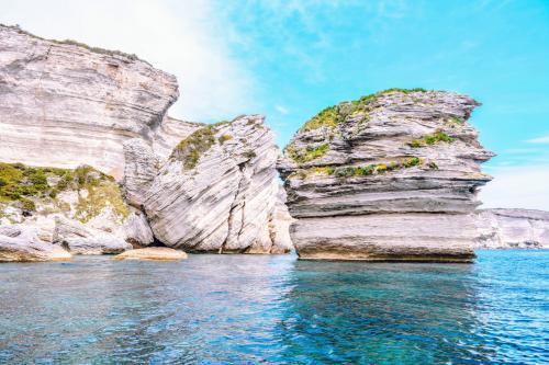 Typische Felsen von Bonifacio