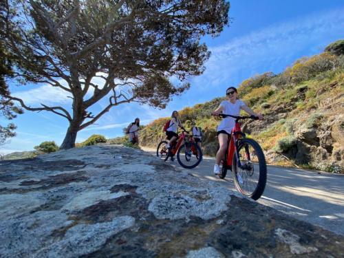 Freunde während eines E-Bike-Ausfluges nach Asinara