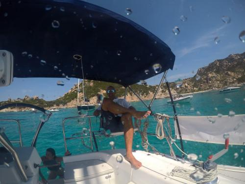 Skipper on board a sailing boat