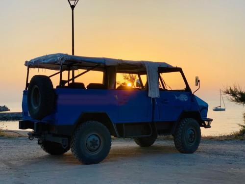 Sunset during an excursion in a military vehicle to Buggerru