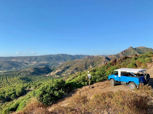 Panoramic view during off road excursion