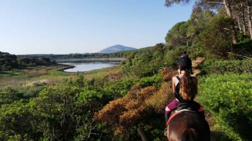 Girl on horseback excursion for experts
