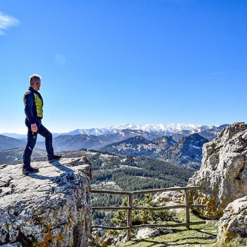 Hiker admires the view