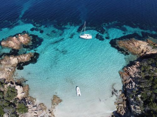 Sailing boat in the Archipelago of La Maddalena
