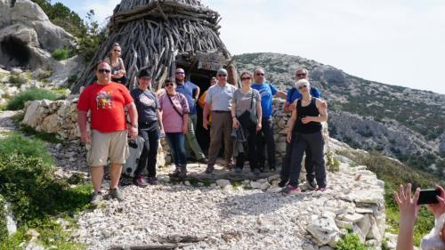Group of hikers on safari