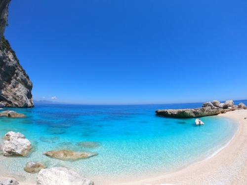 Beach with white sand and turquoise sea