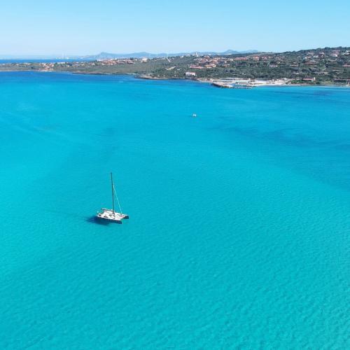 Katamaran in den Gewässern des Asinara Golfs