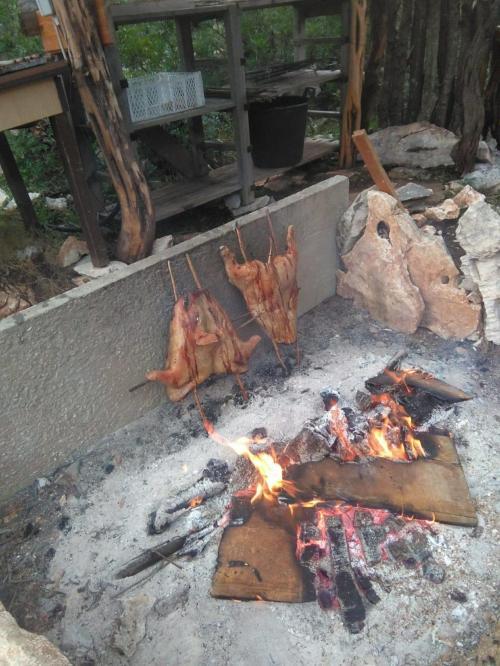 Roast pork preparation