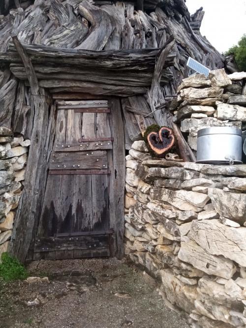 Tür des Schafstalls