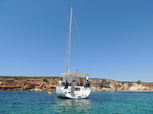 Sailboat in the Sinis sea