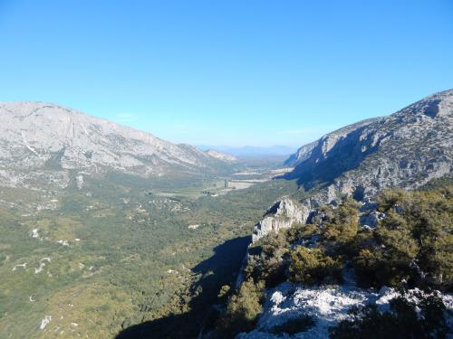 Lanaitho Valley with a view from the top of Monte Tiscali