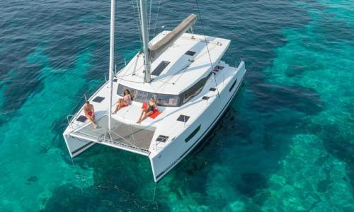 Luxury catamaran in the Asinara sea