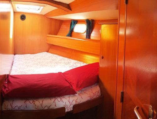 Interior of a sailboat