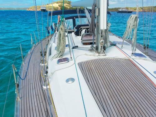 Sailboat in the sea