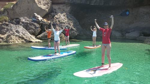 Group of girls in SUP