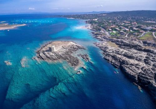 Panoramic view of the Gulf of Asinara