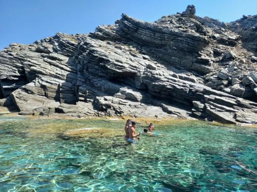 Gruppo di persone nelle acque dell'Asinara