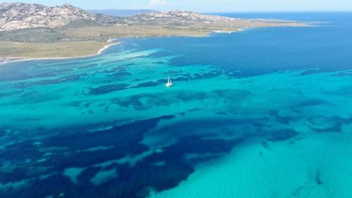 Catamaran in the Gulf of Asinara