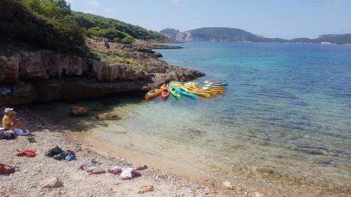 Kayaking on the coast of Alghero
